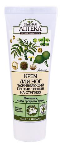 Зелена Аптека Крем для ніг заживляючий проти тріщин 75 мл 1 туба
