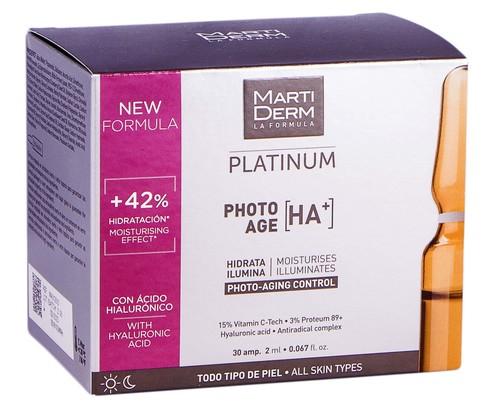 MartiDerm Platinum Фото-Ейдж На+ ампули контроль фотостаріння для всіх типів шкіри 2 мл 30 ампул