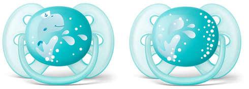 Avent Philips Пустушка ультрам'яка для хлопчиків 6-18 місяців SCF226/22 2 шт