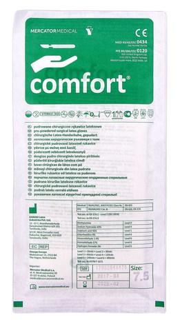 Comfort Рукавички латексні хірургічні припудрені стерильні розмір 7,5 1 пара