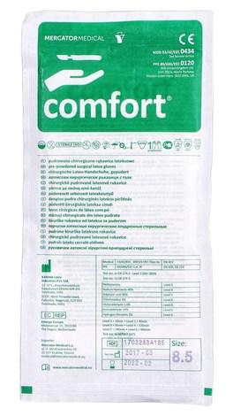Comfort Рукавички латексні хірургічні припудрені стерильні розмір 8,5 1 пара