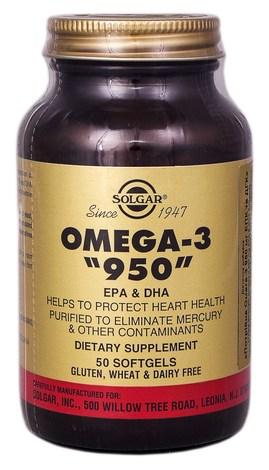 Solgar Потрійна Омега-3 950 мг ЕПК та ДГК капсули 50 шт