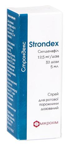 Строндекс спрей для ротової порожнини 12,5 мг/доза 5 мл 1 флакон