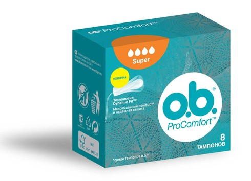 o.b. ProComfort Super Тампони 8 шт