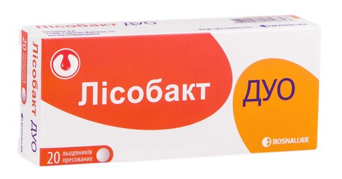 Лісобакт Дуо льодяники 20 шт