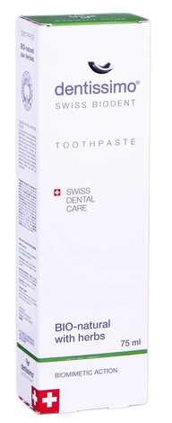Dentissimo Зубна паста Біо-натуральна з цілющими травами 75 мл 1 туба