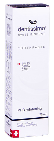 Dentissimo Зубна паста Про-відбілююча 75 мл 1 туба