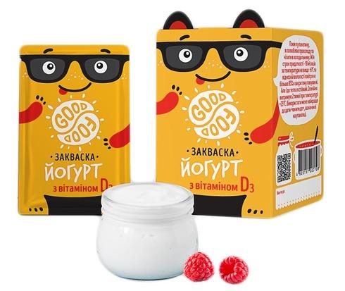 Good Food Закваска бактеріальна Йогурт вітамін D порошок 5 пакетів