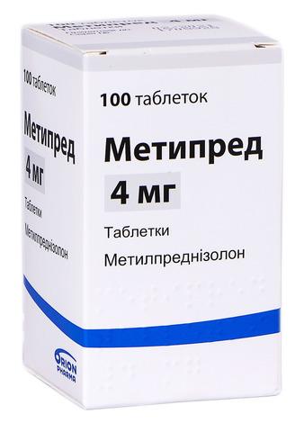Метипред таблетки 4 мг 100 шт 1 флакон