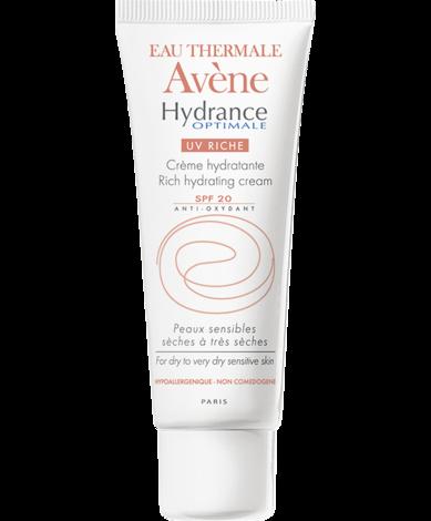 Avene Hydrance optimale UV Riche Крем інтенсивно зволожувальний для сухої та дуже сухої чутливої шкіри SPF-20 40 мл 1 туба