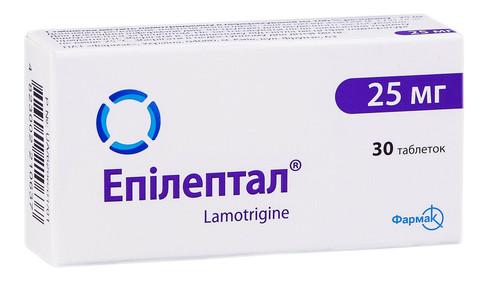 Епілептал таблетки 25 мг 30 шт