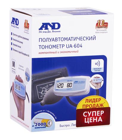 AND Тонометр напівавтоматичний електронний суперекономічний UA-604 1 шт