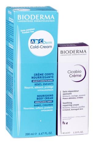 Bioderma ABCDerm Cold-Cream крем для тіла 200 мл + Cicabio крем 40 мл 1 набір