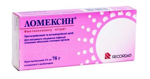 Ломексин крем вагінальний 20 мг/г 78 г 1 туба