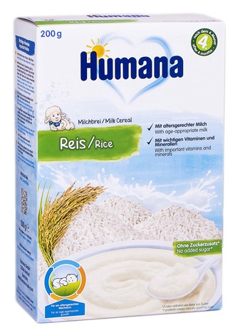 Humana Каша молочна рисова від 6 місяців 200 г 1 коробка