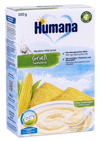 Humana Каша молочна кукурудзяна з 6 місяців 200 г 1 коробка