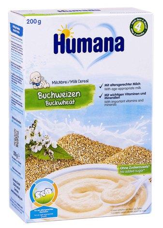 Humana Каша молочна гречана від 6 місяців 200 г 1 коробка