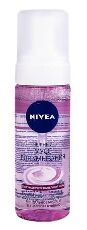 Nivea Мус для вмивання для сухої та чутливої шкіри Ніжний  150 мл 1 флакон з дозатором