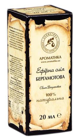 Ароматика Олія ефірна бергамотова 20 мл 1 флакон
