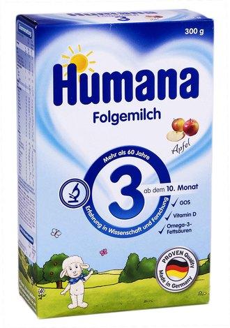 Humana 3 Молочна суміш з пребіотиками і яблуками від 10 місяців 300 г 1 коробка