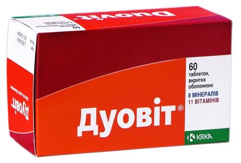 Дуовіт таблетки 60 шт
