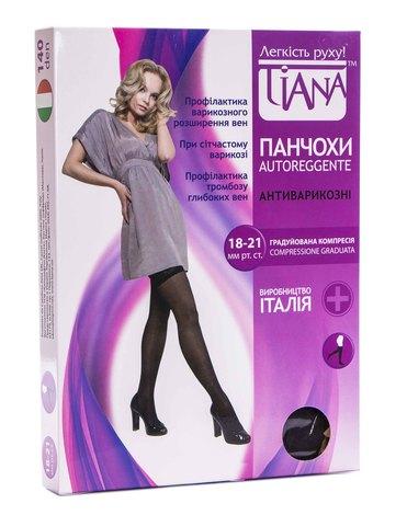 Tiana 838 Панчохи антиварикозні компресія 18-21 мм рт.ст. 140 Den розмір 6 чорний 1 пара