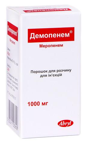 Демопенем порошок для ін'єкцій 1000 мг 1 флакон