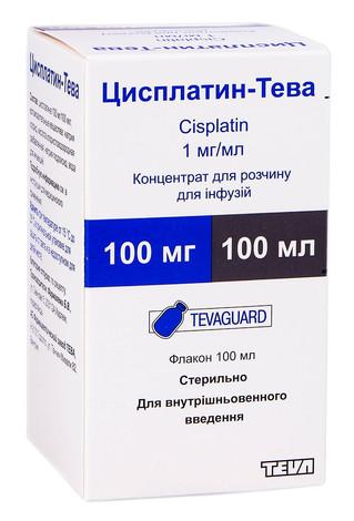 Цисплатин Тева концентрат для інфузій 100 мг 100 мл 1 флакон
