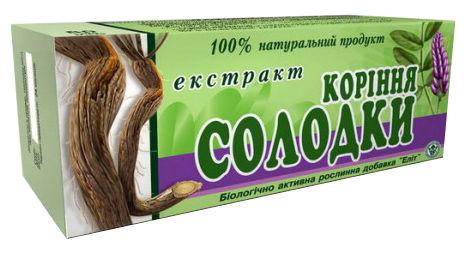 Екстракт кореню солодки таблетки 40 шт