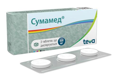 Сумамед таблетки дисперговані 500 мг 3 шт