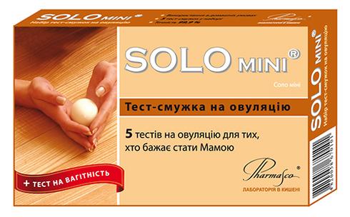 Pharmasco SOLO mini Тест-смужка для визначення овуляції 5 шт