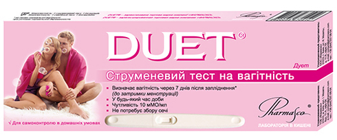 Pharmasco Duet Струменевий тест для визначення вагітності 1 шт