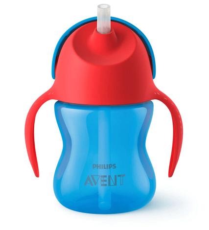 Avent Philips Чашка з трубочкою синя з 9 місяців SCF796/01 200 мл 1 шт