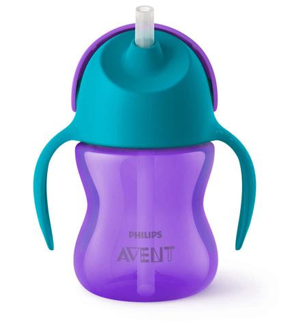 Avent Philips Чашка з трубочкою фіолетова з 9 місяців SCF796/02 200 мл 1 шт