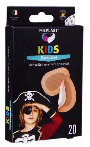 Milplast Пластирі дитячі оклюзійні для очей 6 х 5 см 20 шт