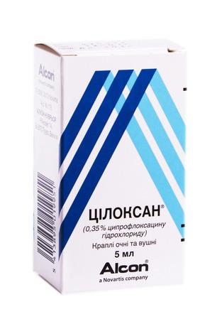 Цілоксан краплі очні та вушні 0,35 % 5 мл 1 флакон