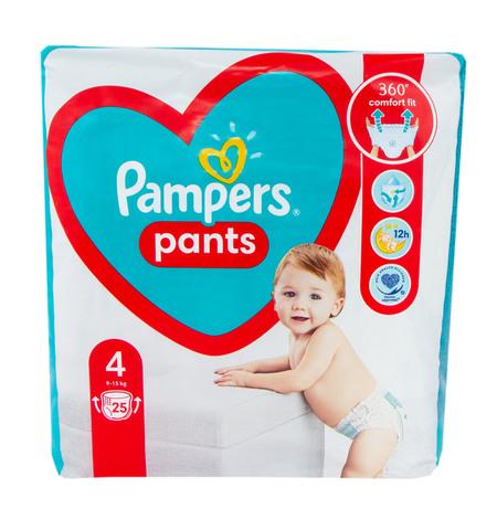 Pampers Pants 4 Підгузки-трусики дитячі 9-15 кг 25 шт