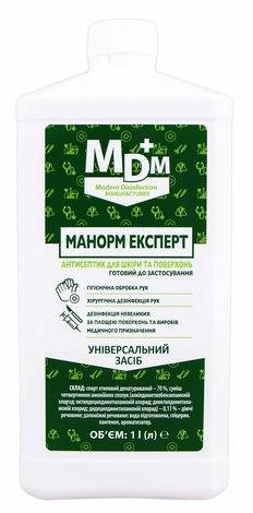 Manorm Експерт Антисептик для шкіри та поверхонь 1 л 1 флакон