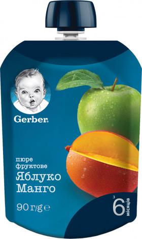 Gerber Пюре Яблуко та манго з 6 місяців 90 г 1 пауч