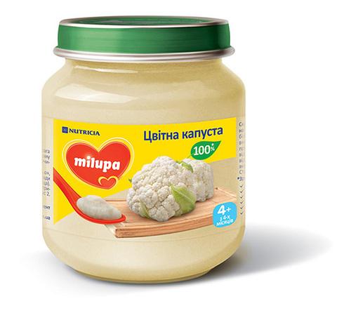 Milupa Пюре Цвітна капуста з 4 місяців 125 г 1 банка