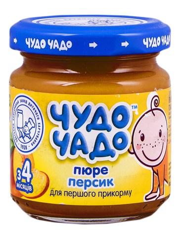 Чудо-Чадо Пюре персик з цукром з 4 місяців 90 г 1 банка