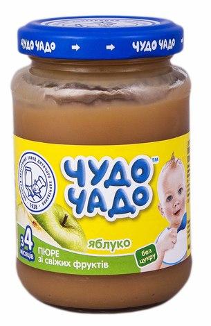 Чудо-Чадо Пюре яблуко без цукру з 4 місяців 170 г 1 банка