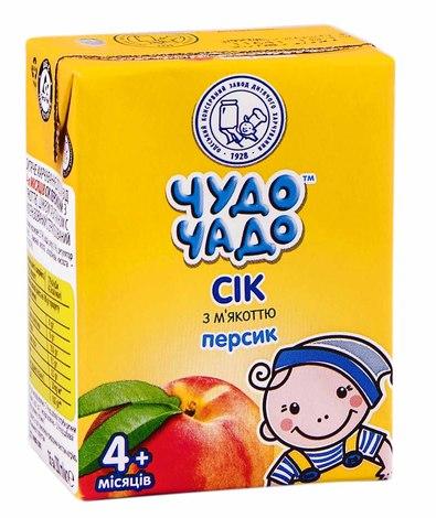 Чудо-Чадо Сік персиковий з мякоттю з 4 місяців 200 мл 1 пакет