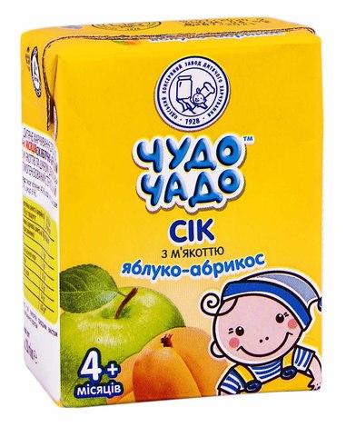 Чудо-Чадо Сік яблуко-абрикос з м'якоттю з 4 місяців 200 мл 1 пакет