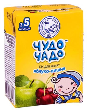 Чудо-Чадо Сік яблуко-вишня з 5 місяців 200 мл 1 пакет