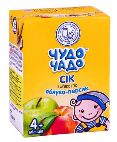 Чудо-Чадо Сік яблуко-персик з м'якоттю з 4 місяців 200 мл 1 пакет