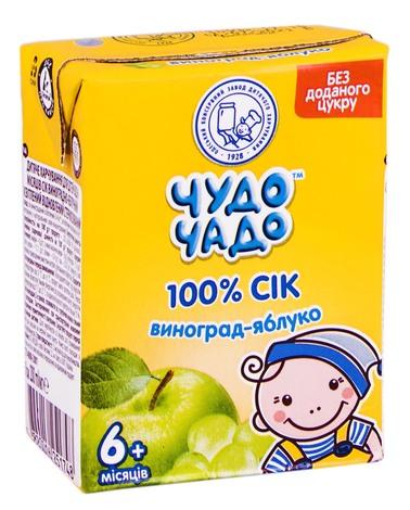 Чудо-Чадо Сік виноград-яблуко з 6 місяців 200 мл 1 пакет