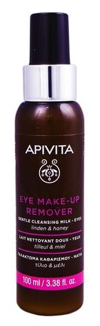 Apivita Молочко ніжне очищуюче для зняття макіяжу з очей з липою та медом 100 мл 1 флакон