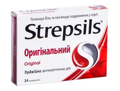 Стрепсілс Оригінальний льодяники 24 шт