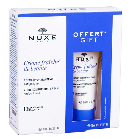 Nuxe Creme Fraiche Крем зволоження 48 годин для нормальної шкіри 30+15 мл 1 набір